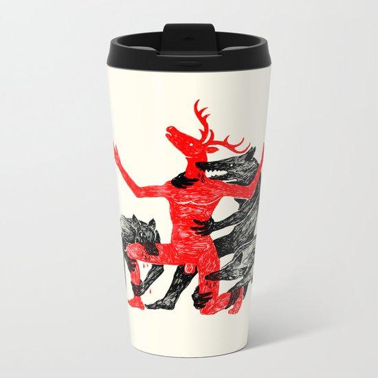 The Wolf People Kill the Deer Man Metal Travel Mug