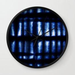 Shibori Folds Wall Clock