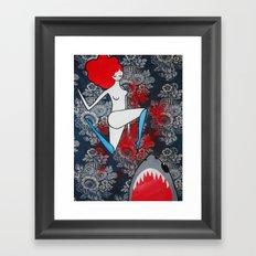 shark dreams Framed Art Print