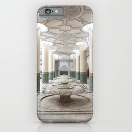 Hall of Ablution - Hassan II Mosque Interior - Casablanca, Morocco iPhone Case