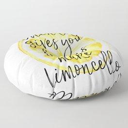 When Life Give You a Lemons Make Limoncello, Kitchen Decor, Wall Art, Hme Decor Floor Pillow