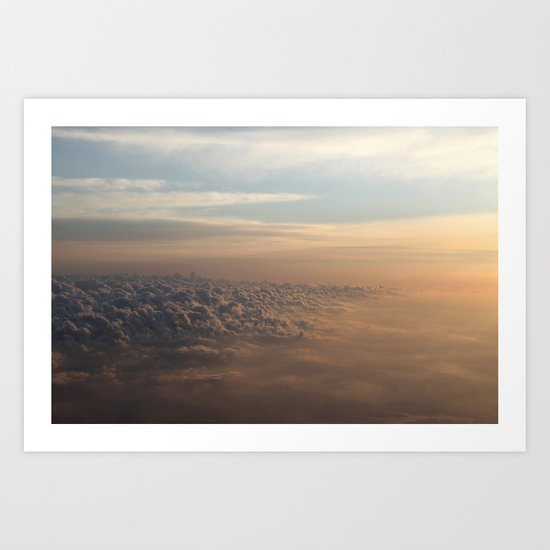 Cumulus Dunes Art Print
