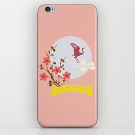 Bird and Full Moon iPhone Skin