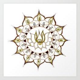 Lotus Henna Mandala Art Print
