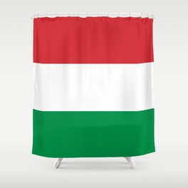 flag of hungary-hungary, hungarian, magyar,Magyarország, hungria,Budapest Shower Curtain