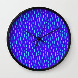 Purple Memphis Wall Clock