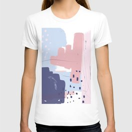 Pink Blush Purple Blue Decorative Abstract painting -2, Colour Symphony abstraction, T-shirt