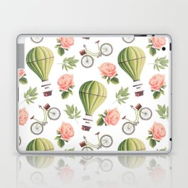 Bicycles Roses and Balloons Laptop & iPad Skin