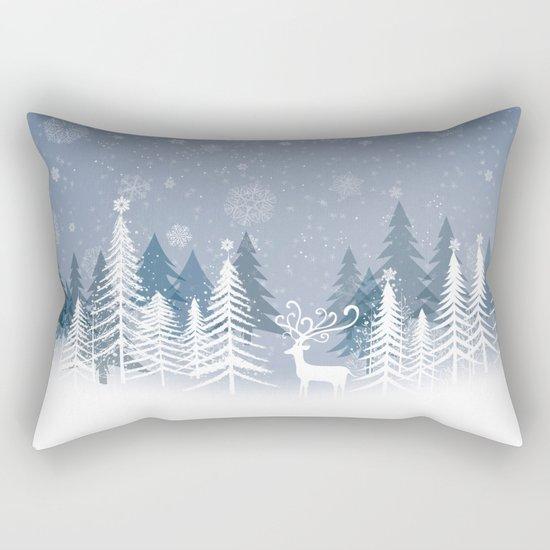 Lonely Winter Rectangular Pillow