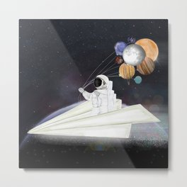 space sailing Metal Print
