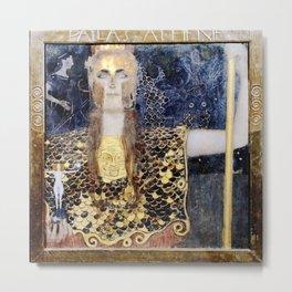 Pallas Athena by Klimt Brothers Gustav and George Metal Print