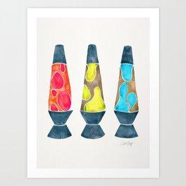 Retro Vibes – Primary Palette Art Print