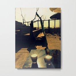 Afternoon Coffee - Vintage Style Photo Metal Print