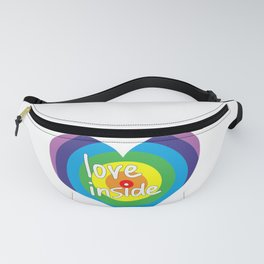 Love inside rainbow heart Fanny Pack