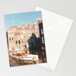 Canals in Summer Amsterdam City, Netherlands | Travel Photography Stationery Cards