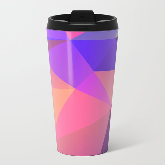 Geometric XX Metal Travel Mug