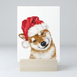 Christmas Shiba Inu Mini Art Print