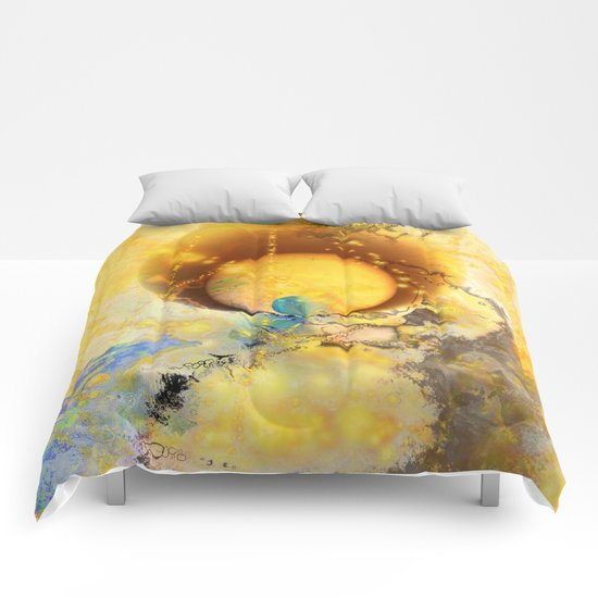 Abstract texture yellow 1 Comforters