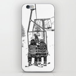 Snow Lift // Ski Chair Lift Colorado Mountains Black and White Snowboarding Vibes Photography iPhone Skin