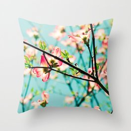 Aqua Spring Throw Pillow