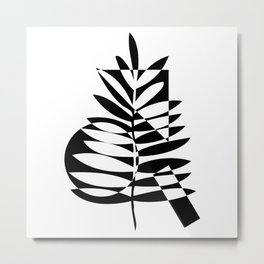 Geometric leaf Metal Print