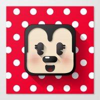 minnie mouse Canvas Prints featuring minnie mouse cutie by designoMatt