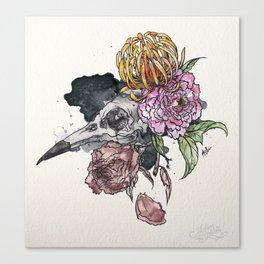 Bird Skull Garden Canvas Print