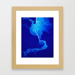 Blue Smoke Framed Art Print