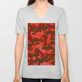 Camouflage (Red) Unisex V-Neck