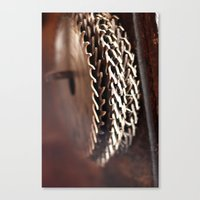 rooster teeth Canvas Prints featuring Teeth by OConnorWoodcraft