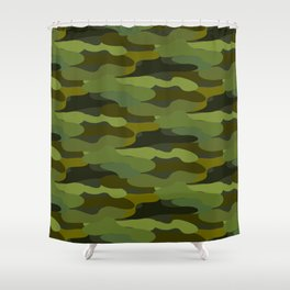 Khaki camouflage Shower Curtain