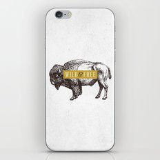 Wild & Free (Bison) iPhone & iPod Skin
