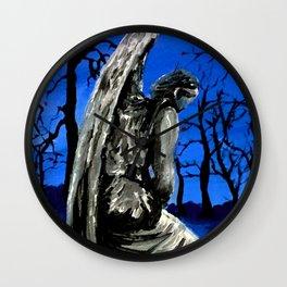 Winter Angel Wall Clock