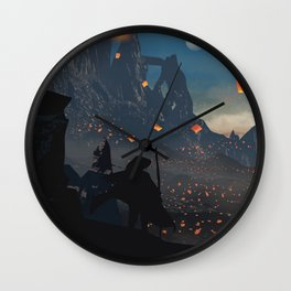 Lantern Original Artwork Wall Clock