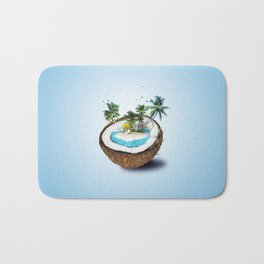 The illusion of the sea paradise blue Bath Mat