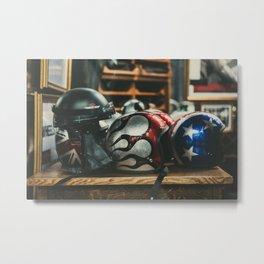 Helmets Metal Print