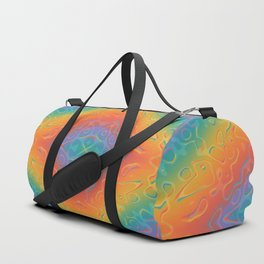 Colorful Liquid Holographic Pattern Abstract Rainbow Waves Duffle Bag