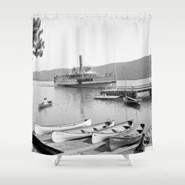 The Sagamore Lands at Roger's Slide Boathouse Shower Curtain