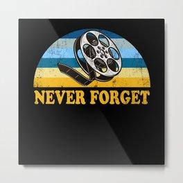 Never Forget Cinema Metal Print