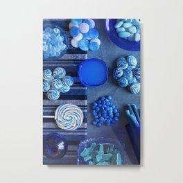 Blue - the colors of food Metal Print
