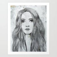 karen hallion Art Prints featuring Karen by Just Art by Lena Wennerström