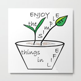 The Simple Things Metal Print