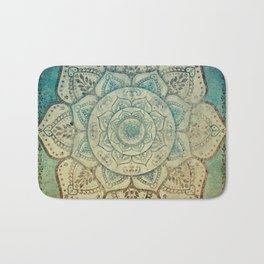 Faded Bohemian Mandala Bath Mat