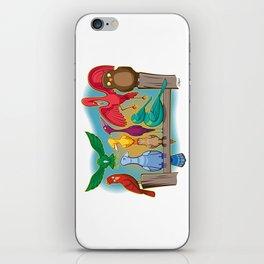 Colorful Goofy Birds iPhone Skin