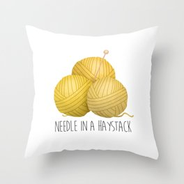 Needle In A Haystack Throw Pillow