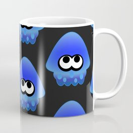 Splatoon Squid Pattern Blue Coffee Mug