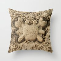 crab Throw Pillows featuring crab by Кaterina Кalinich