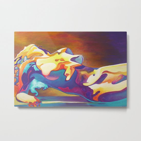 The United Colours of Orgasm Thermal Nude Metal Print