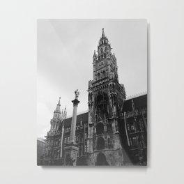 Munich Clock Tower Metal Print