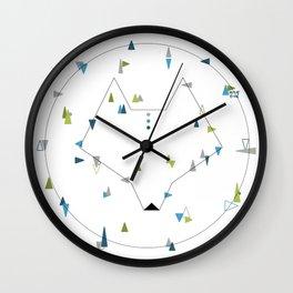 wolf. geometric Wall Clock